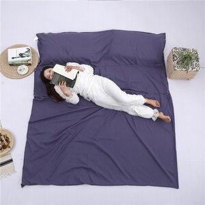 Image 2 - Sac de couchage léger doublure sac de couchage sac de couchage extérieur simple Double sac de couchage en plein air Camping hôtel feuille de voyage