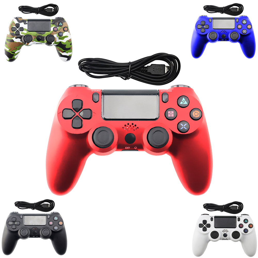 Wired Gamepad For Playstation Sony PS4 Controller Joystick Joypad Controle for DualShock Vibration Joystick for Play Station 4(China)