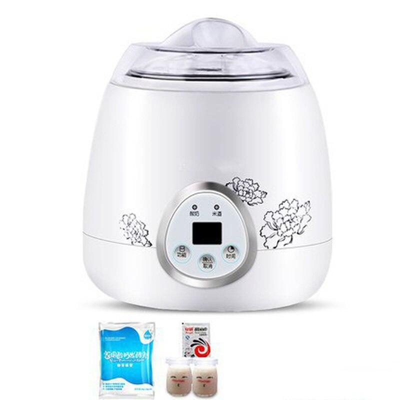 Ev Aletleri'ten Yoğurt Makineleri'de 110 v 220 v çok fonksiyonlu yoğurt makinesi ev yapımı yoğurt Natto makinesi ev otomatik japon 750ML yoğurt title=