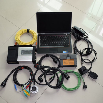 2IN1 mb star sd c5 and for bmw icom a2 newest software 1tb hdd with for dell e6420 laptop i5 4g ready to use 2020 super