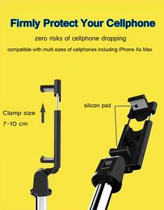 Image 5 - Remote Extendable Mini Tripod Wireless Bluetooth Selfie Stick for iphone/Android/Huawei 3 in 1Foldable Handheld Monopod Shutter