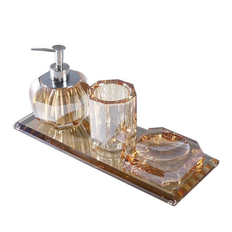 Light luxury crystal wash suit high grade soap box shower gel hand sanitizer bottling jar DECORATION ORNAMENT Crystal decor
