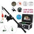 Комплект из алюминиевого сплава для подводной рыбалки  видео камера  6 Вт  ИК светодиодный фонарь с 7