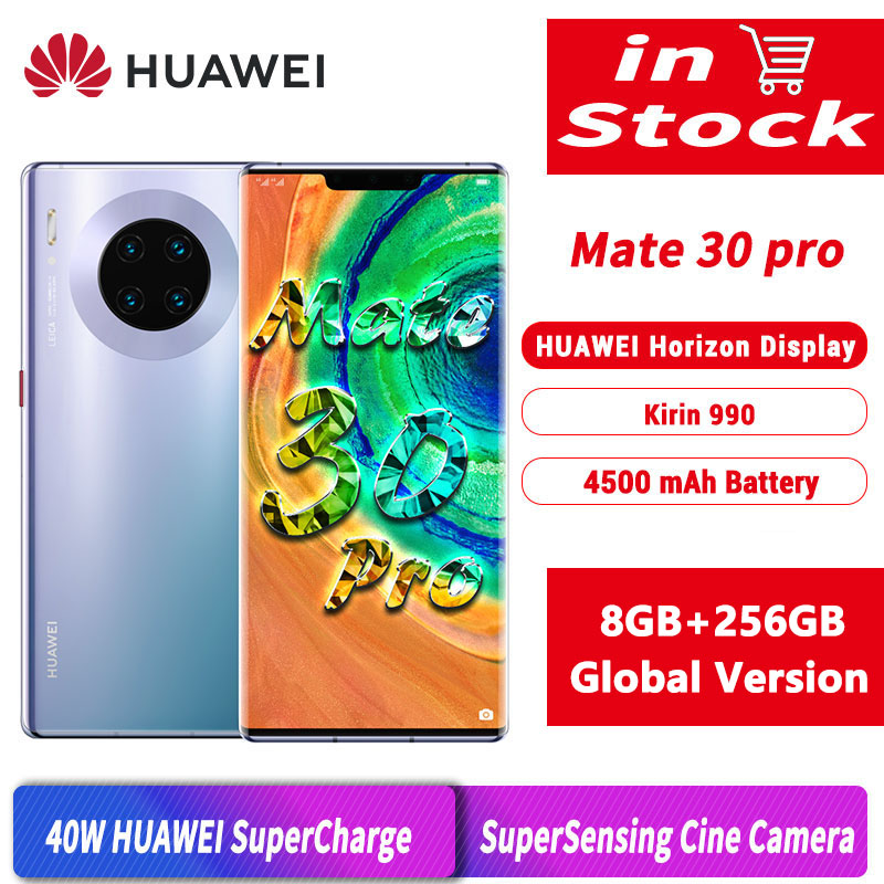 Versão global original huawei mate 30 pro 8gb 256gb mobilephone 6.53