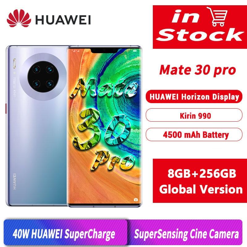 Глобальная версия оригинальный HUAWEI Mate 30 Pro 8 Гб 256 мобильный телефон 6,53
