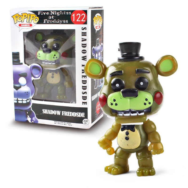 POP FNAF pięć nocy w kolekcji freddy'ego akcja zabawki modele figurka winylowa lalka Freddy Chica Bonnie Foxy Fazbear niedźwiedź w pudełku