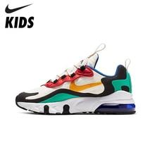 цена на NIKE AIR MAX 270 REACT(GS) Original Kids Shoes Air Cushion Mesh Children Running Shoes Comfortable Sports Sneakers #BQ0102-001