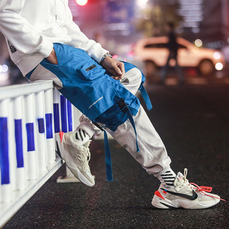 Hip Hip Pants Vintage Color Block Patchwork Corduroy Cargo Harem Pant Streetwear Harajuku Jogger Sweatpant Cotton Trousers 2020 3