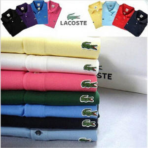 Jersey T-Shirt Tops Short-Sleeves Lacoste-New Casual Cotton Summer Home Men Tee 02201