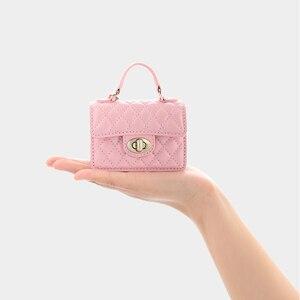 MILESI женский кожаный кошелек для монет брелок мини маленький кошелек сумка брелок (3 слоя) MP386