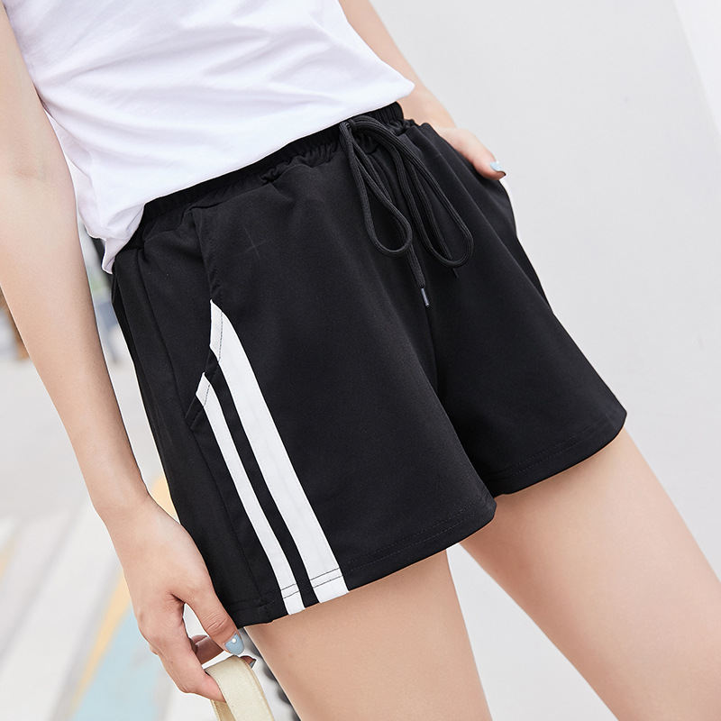 Women Sashes Loose Shorts Casual Female  Gray High Waist Button Fly Shorts Vintage Mujer Solid Empire