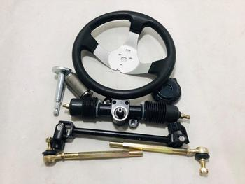 GO KART KARTING ATV UTV Buggy 320MM Steering Gear Rack Pinion U Joint Tie Rod With Steering Wheel