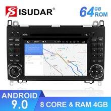 Isudar автомобильный мультимедийный плеер 2 din Android 9 стерео система для Mercedes/Benz/Sprinter/W169/B200/B-class автомобильный dvd-радио GPS DSP FM