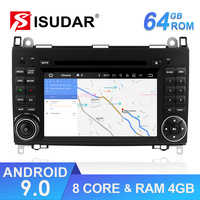 Isudar coche reproductor Multimedia 2 din Android 9 sistema estéreo para Mercedes/Benz/Sprinter/W169/B200 /B-clase Car DVD Radio GPS DSP FM