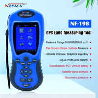 GPS survey equipment use for Farm Land Surveying And Mapping Area Measurement display measuring value figure track Noyafa NF 198