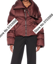 ElfStyle Ladies High Collar Long Sleeve White Duck Short Down Jacket - Fall/Winter 2020 Warmer Down Coat Outwear Top()