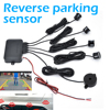 Car Parking Sensor with 4 Sensors Buzzer 22mm Kit Reverse Backup Radar Sound Alert Indicator Probe System 12V discount
