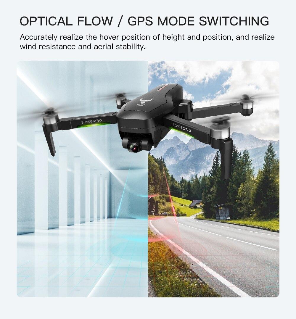 SG906 Pro 5G WIFI GPS Drone 4k HD 2 aixs gimbal Kamera unterstützt TF SD karte drohnen 1,2 km Lange Control Abstand flug 25 min