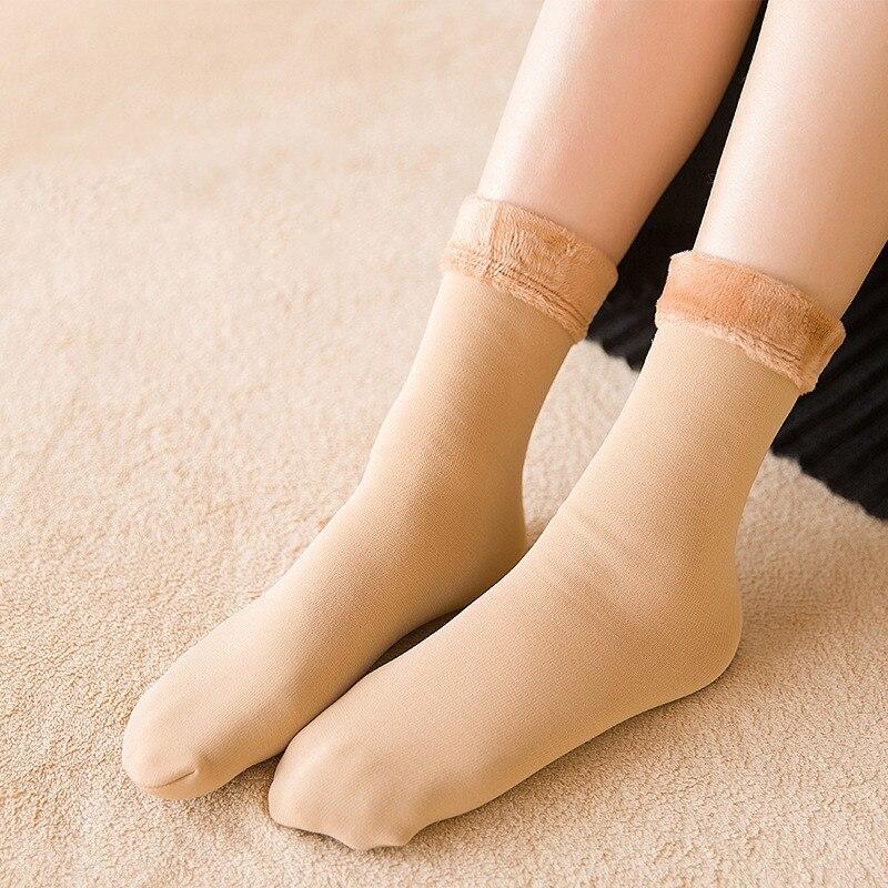 Women Thicken Sock Women Thermal Wool Cashmere Snow Socks Seamless Warm Velvet Boots Floor Girls Sleeping Socks Fashion 4 Colors