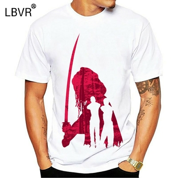 Ew Men T Shirt 2019 Summer Fashion O Neck Michonne Sword Silhouette Cool Samurai Zombie Hunter Horror T Shirt image