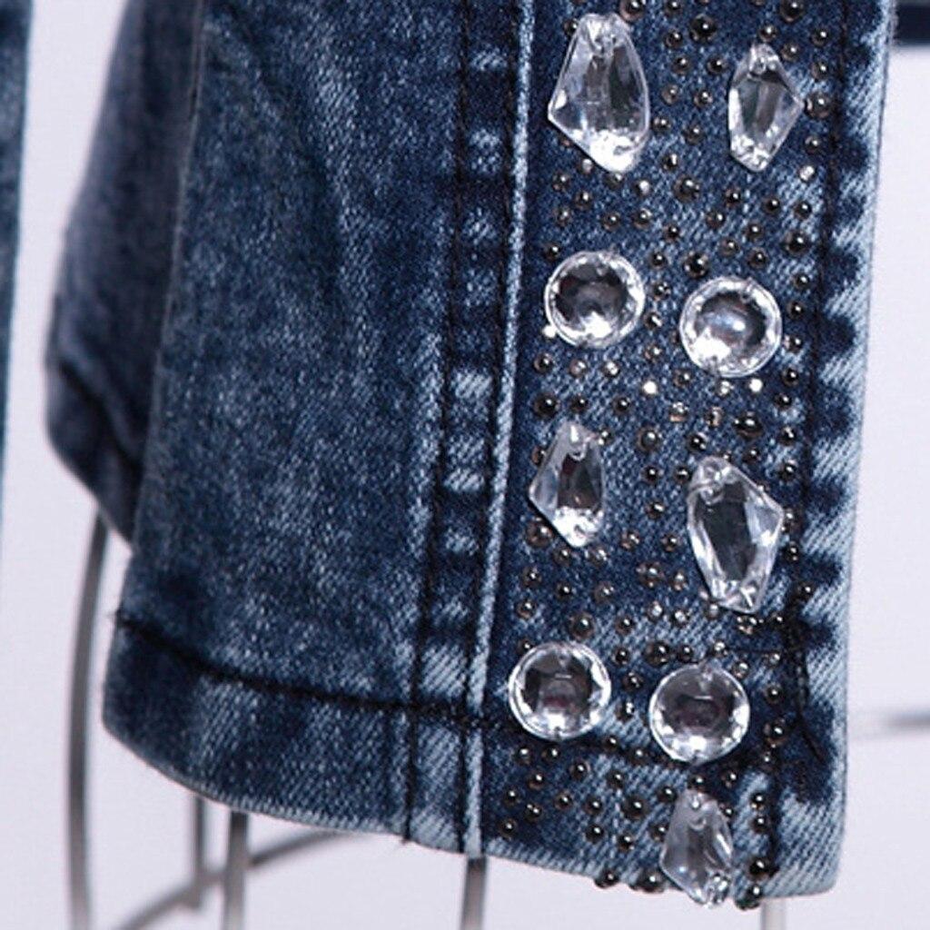 Hc45c5cc2d984449eb296f3c70fbc7610c JAYCOSIN Women's Coat New Fashion 2019 Denim Coat Ladies Casual Jacket Outwear Jeans Overcoat female Turn-down Collar jackets