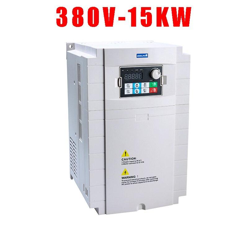 380V 15KW VFD wysokowydajny przemiennik pompy VFD z potrójnym (3) wyjściem fazowym AC