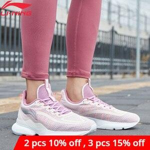 Image 1 - Li ning, zapatos para correr CRAZYRUN X Cushoin para mujer, soporte respirable, Li Ning CLOUD LITE, zapatillas deportivas, zapatillas ARHP122 XYP938