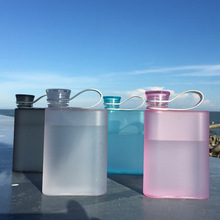 Water-Bottle Plastic Outdoor-Sports Creative Portable New Flat 380ml for Man A5-Ring