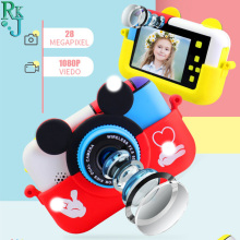 Children MiniDigital Camera  2.4 Inch IPS Screen 1080P HD Video Selfie Mini SLR Children Toy Camera Birthday Gift