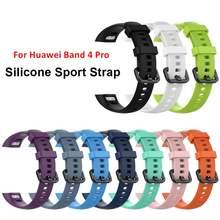 Ремешок силиконовый duoteng для смарт часов huawei band 4 pro