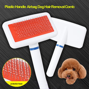 1Pc Multi-purpose Airbag Needle Comb Brush For Puppy Tendy Dog Pets, Dog Hair Remover Rake Comb, Cat Pet Beauty Grooming Tool image