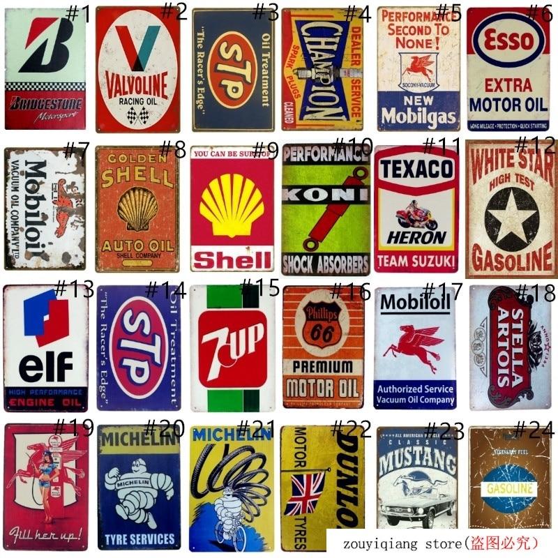 STP Motor Oil Logo Gas Station Garage Retro Rustic Vintage Wall Decor Metal Sign