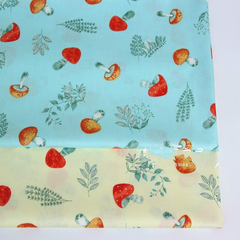 Хлопчатобумажная саржевая ткань с принтом гриба, хлопковая ткань, Детская Лоскутная Ткань, сделай сам, шитье, стеганое одеяло, материал для ...