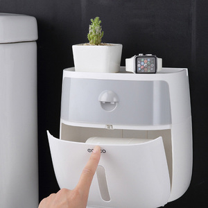 Image 2 - LEDFRE Wall Mounted Toilet Paper Holder Dispensers Multi Creative Toilet Roll Holder Bathroom Double Paper Tissue Box LF82003P