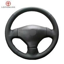 LQTENLEO Đen Chính Hãng Tay May Xe Bọc Vô Lăng Cho Xe Đạp Peugeot 206 2003 2006