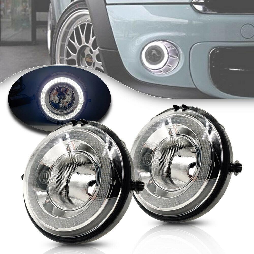 Белый светодиодный Габаритные огни лампочка для противотуманной фары, сборка Совместимость для MINI Cooper R55 R56 R57 R59 R60 R61 Halo Стиль светодиодный с...