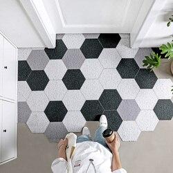 Extra Durable Door Mat Outdoors PVC Diamond Rugs Mat Absorbent Doormat Outdoor Front Lagre Rugs Carpet Entrance Door Mat Outdoor