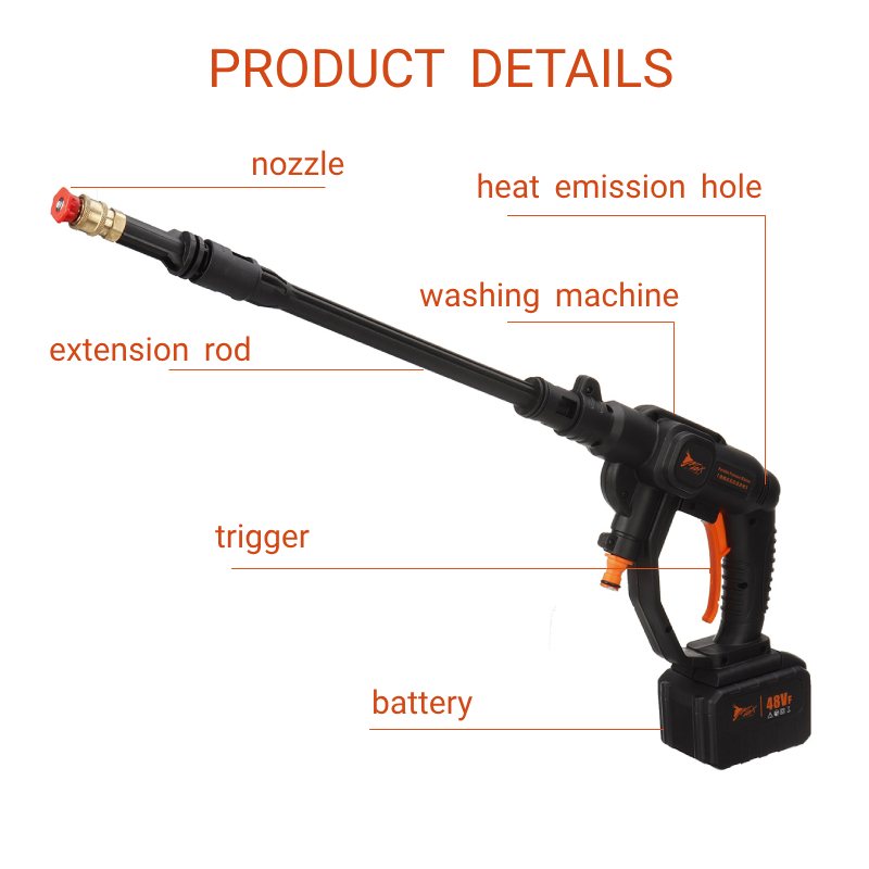 Cordless High Pressure Car Washer Spray Water Gun