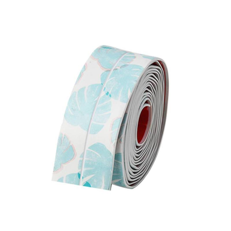 Waterproof Mold Proof Adhesive Printed Tape Durable PVC Material Kitchen Bathroom Wall Sealing Tape Gadgets Tape     - title=