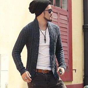 Image 5 - เสื้อกันหนาวผู้ชายเสื้อแขนยาวเสื้อสเวตเตอร์ถักเสื้อ J281 2