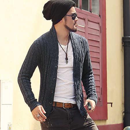 Męski sweter rozpinany sweter z długim rękawem sweter J281-2