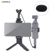 цены Comica CVM-MT-K1 Smartphone Video Kit with 3.5mm Stereo Video Microphone Tripod Mount Handheld Phone Holder for DJI Osmo Pocket