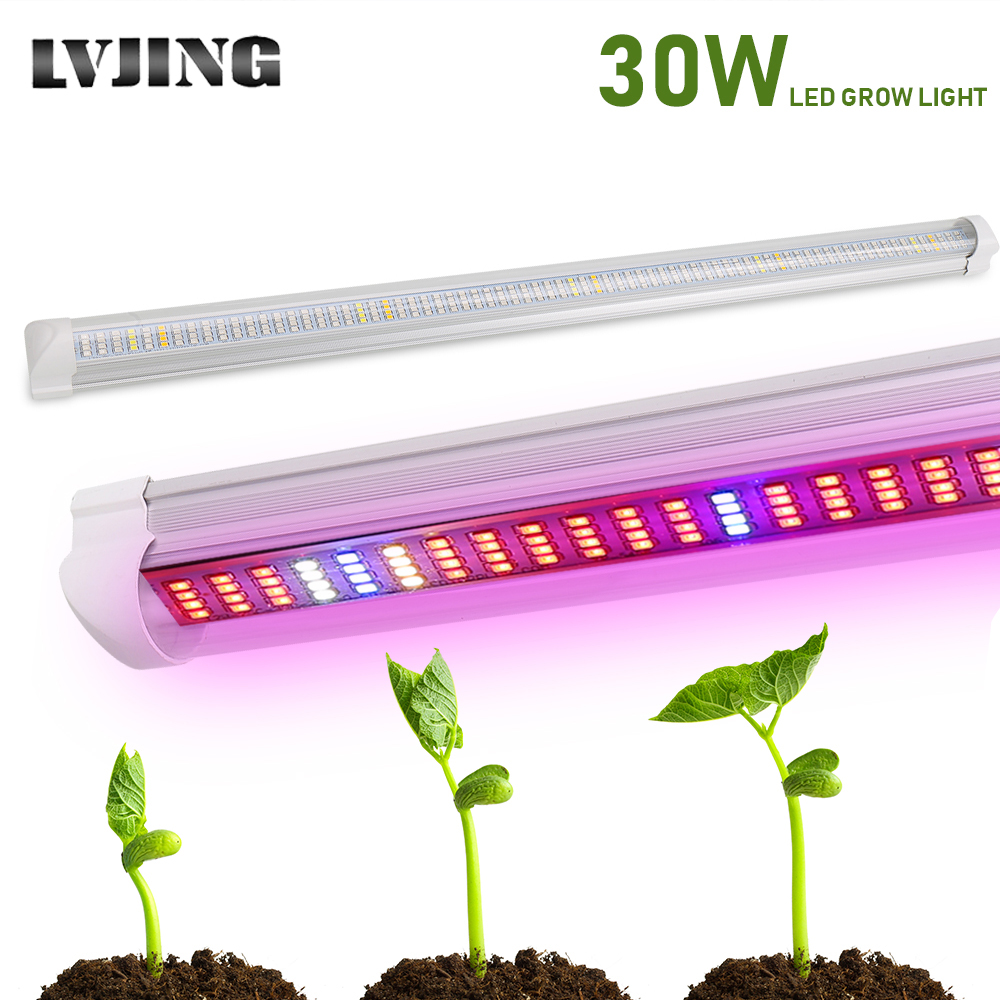 30W Full Spectrum Led Grow Light Bar Lamp Strip For Hydroponic System Greenhouse Vegetable LED Strip Lighting Aquarium Plants