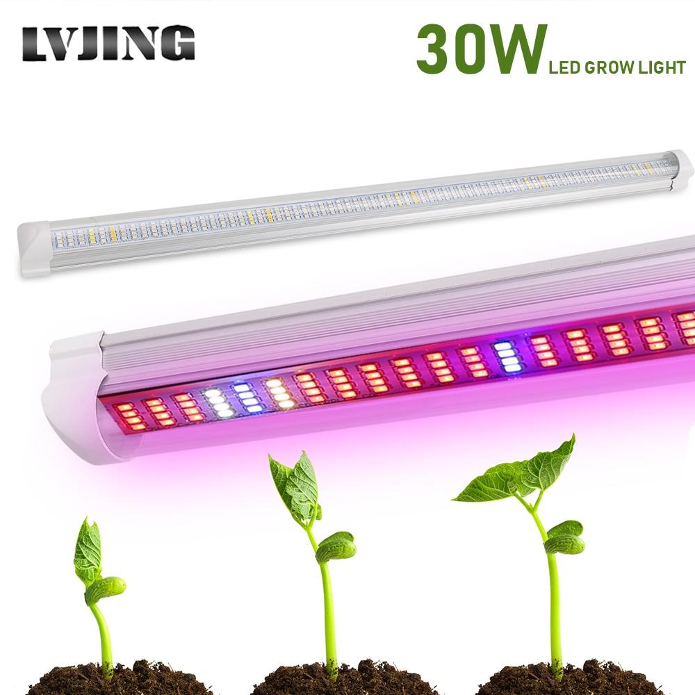 30W Full Spectrum Led Grow Light Bar Lamp Strip For Hydroponic System Greenhouse Vegetable LED Strip Lighting Aquarium Plants
