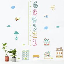 Number and Cartoon Remocable Height Measurement Wall Stickers for Children Height Growth Chart Height Record Nursery Bedroom CM цена в Москве и Питере