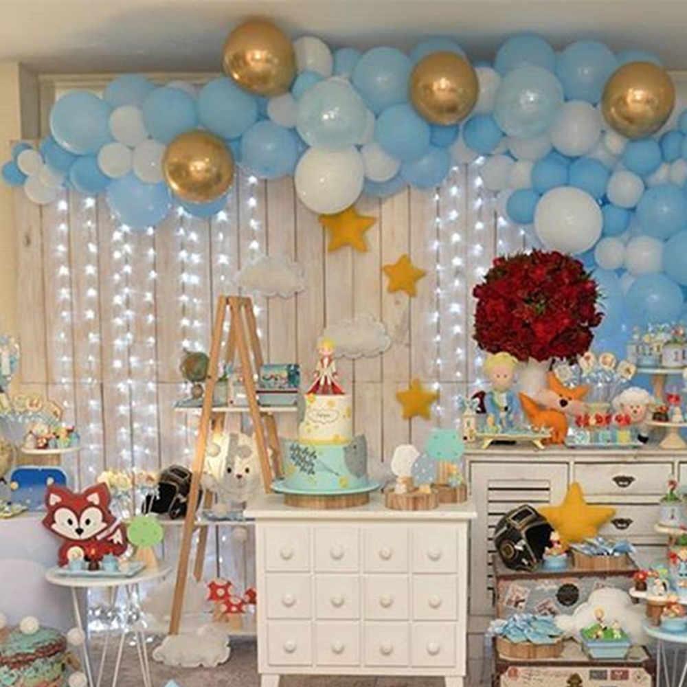 101 Pcs Cute Pangeran Rose Anak-anak Pesta Tema Pastel Biru Balon Arch Kit Anak Gadis Ulang Tahun Bayi Shower Garland Bola latar Belakang Dekorasi