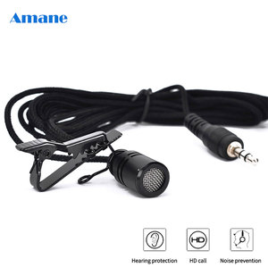 Portable 3.5mm Jack Lavalier Tie Clip Microphone Mini Omnidirectional Microphone Audio Mic for Computer Laptop Phone 2.5m