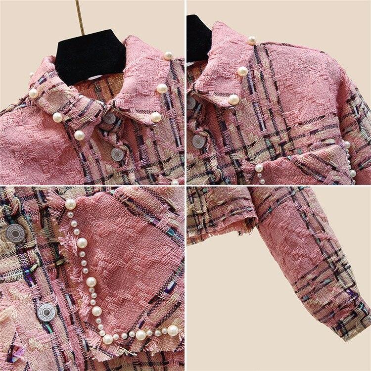 Cordón elegante chaqueta corta de manga larga de las mujeres suelto modis chaqueta mujer 2019 otoño nueva llegada veste femme - 3