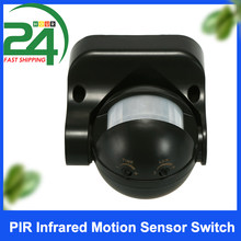 180 degrés extérieur IP44 sécurité PIR infrarouge capteur de mouvement commutateur détecteur de mouvement économiseur d'énergie commutateur d'éclairage automatique