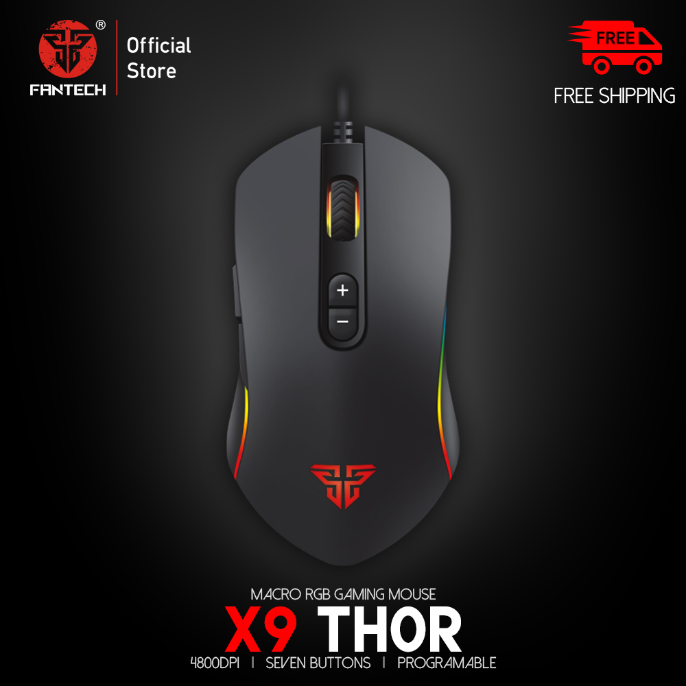 FANTECH X9 Professional Wired Gaming Mouse Adjustable 4800 DPI Optical Cable Mouse For FPS LOL Mouse Gamer USB Mouse Mice